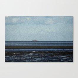 Blackrock village overlooking the Irish Sea Canvas Print