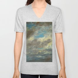 "John Constable ""A Cloud Study"" 7. Unisex V-Neck"