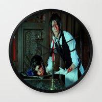 kuroshitsuji Wall Clocks featuring Halloween Treat - Kuroshitsuji by Lalasosu2