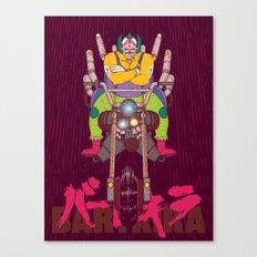 Krusty the Biker Gang Neo-Tokyo Clown Canvas Print