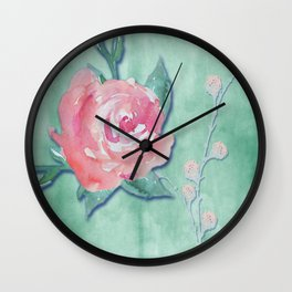 Soft Roses Wall Clock