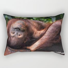 Would You Like to Orangutango With Me? Rectangular Pillow