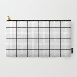 Grid Simple Line White Minimalist Carry-All Pouch