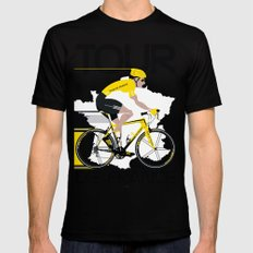 Tour De France X-LARGE Mens Fitted Tee Black