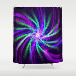 molecular memory Shower Curtain