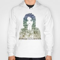 bjork Hoodies featuring Bjork Human Behaviour  by b_ethany