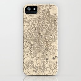 Vintage Map of Leeds England (1851) iPhone Case