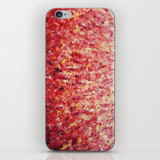HYPNOTIC SUNRISE - Stunning Sunrise Sunset Pink Magenta Peach Crimson Bright Red Cream iPhone & iPod Skin