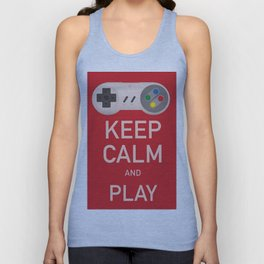Keep Calm and Play vintage poster Unisex Tank Top