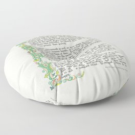Max Ehrmann DESIDERATA Floor Pillow