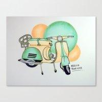 vespa Canvas Prints featuring Vespa  by Melissa Rodriguez