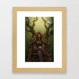 Huntress & the Nightingale Framed Art Print