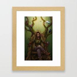 Huntress & the Nightingale Framed Art Print