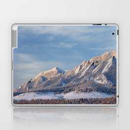 Winter Snow on Flatirons in Boulder Colorado Laptop & iPad Skin
