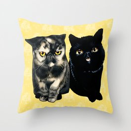 Squish and Duffy Throw Pillow