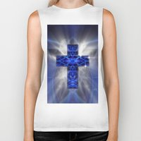 cross Biker Tanks featuring Cross by Mr D's Abstract Adventures