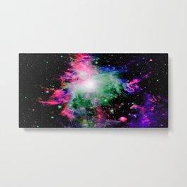 Orion Nebula Black Pyschedelic Metal Print
