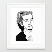 matty healy Framed Art Prints featuring Matty Healy by ☿ cactei ☿