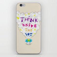 Think inside the box iPhone Skin
