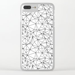 Mosaic Triangles Repeat Seamless Pattern Black and White Clear iPhone Case