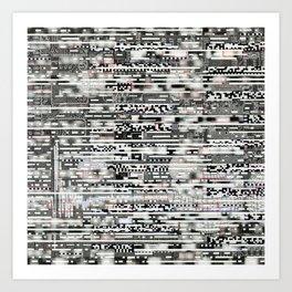 Removing Filters (P/D3 Glitch Collage Studies) Art Print