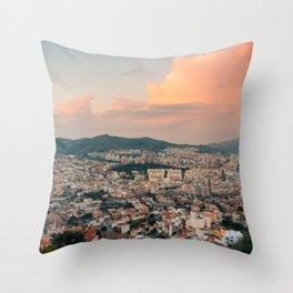 Barcelona Sunset 02 Throw Pillow