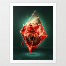 Diamond Eye [Eyeght of Diamonds] Art Print