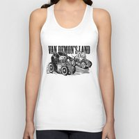 pocket fuel Tank Tops featuring Gimme Fuel! by Van Demon's Land Clothing