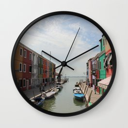 Burano in Venezia Wall Clock
