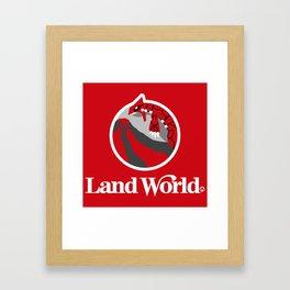 Land World Framed Art Print