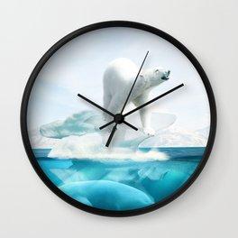 Polar Bear Island Wall Clock