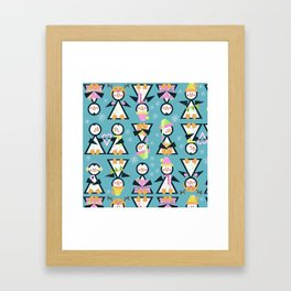 Penguin Party Framed Art Print