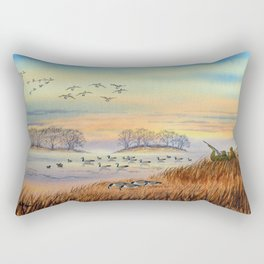 Goose Hunting Season Colorful Painting Rectangular Pillow
