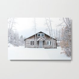 Aspen in the Winter Metal Print