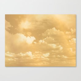 Clouds in a Golden Sky Canvas Print