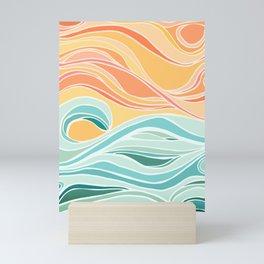 Sea and Sky II / Abstract Landscape Mini Art Print