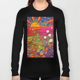 Psychadelic Illustration Long Sleeve T-shirt