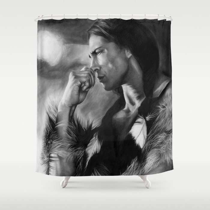 Native American Shower Curtain By Thubakabra