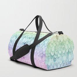 MAGIC MERMAID - PASTEL RAINBOW Duffle Bag