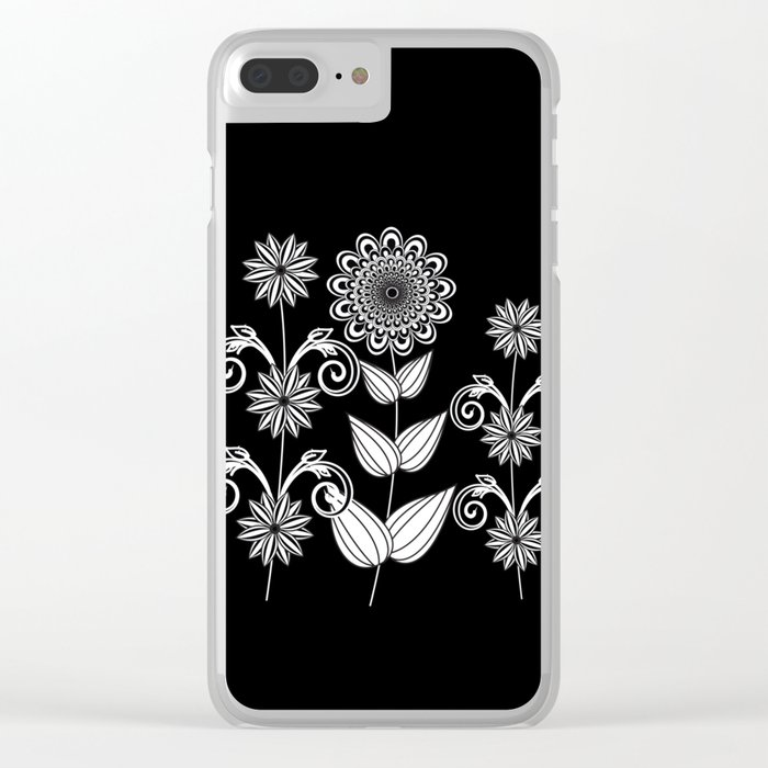Flower garden 1 Clear iPhone Case
