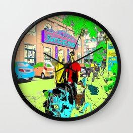 2 cyclists Wall Clock