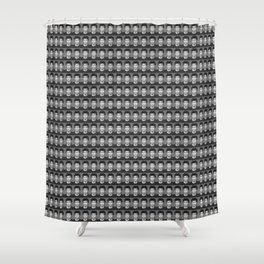 Face Headshot of man in black and white Shower Curtain