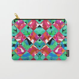 Red Rose Diamond Carry-All Pouch