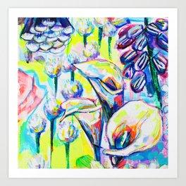 Flower Puzzle (4) Art Print