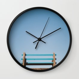 A bench with a view Wall Clock