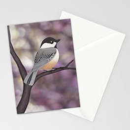 Sasha the black-capped chickadee Stationery Cards