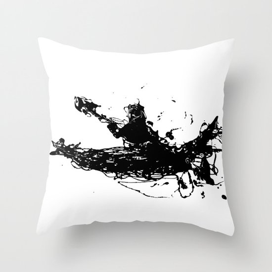 Kayakers Kayak Throw Pillow