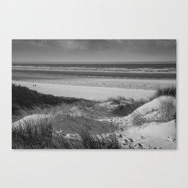 Beach Dune Black white Canvas Print