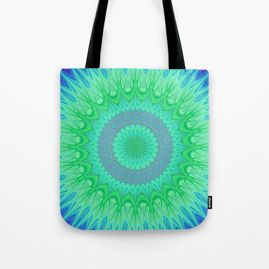 Crystal mandala Tote Bag