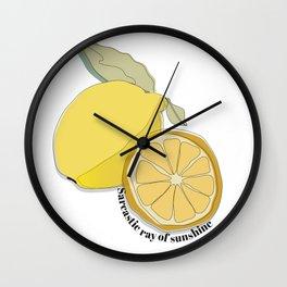 Sarcastic Lemon Wall Clock